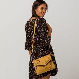 VIOLET RAY Mustard Yellow Crossbody Bag